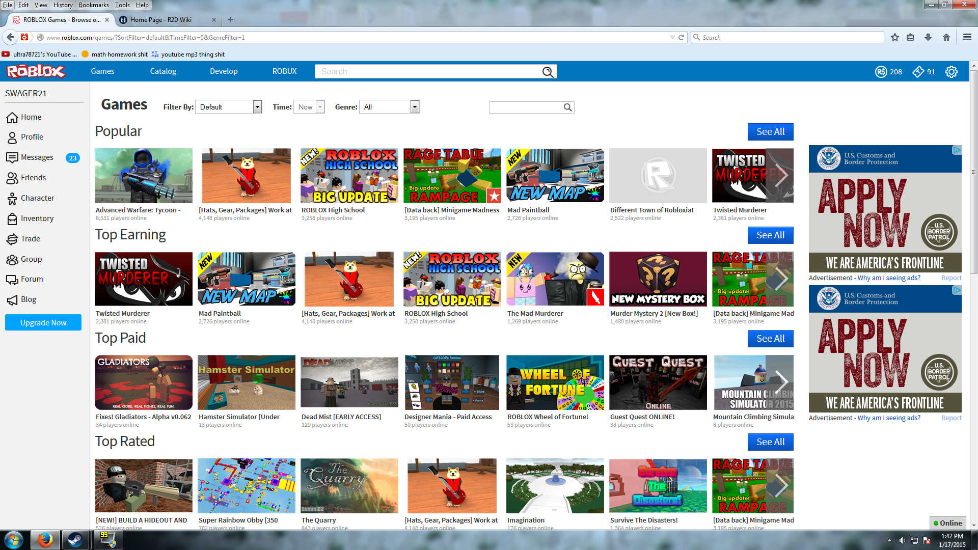 Get Your Game On The Roblox Front Page
